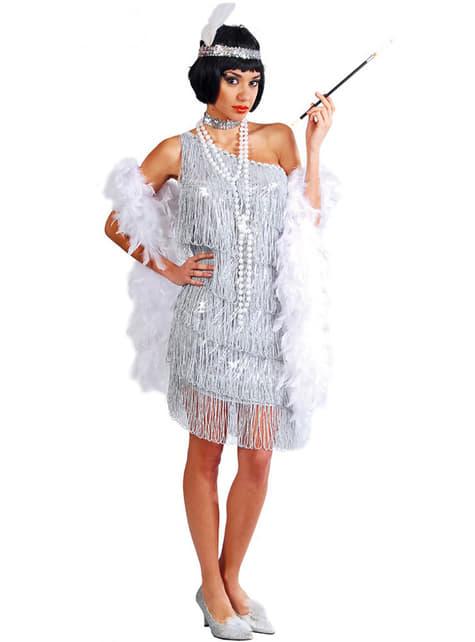 Disfraz de charlestón plata