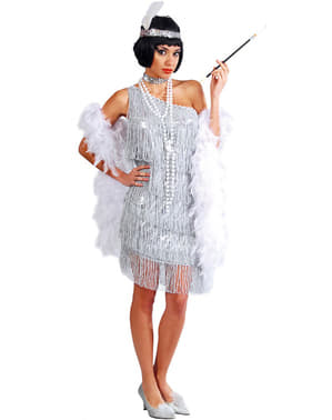Sølv charlestonudklædning