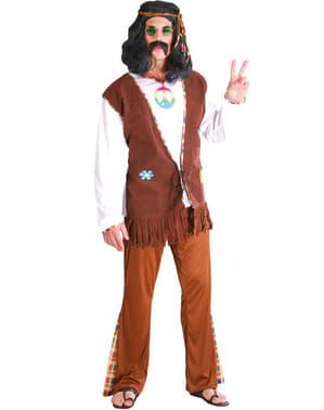 Blije hippie kostuum