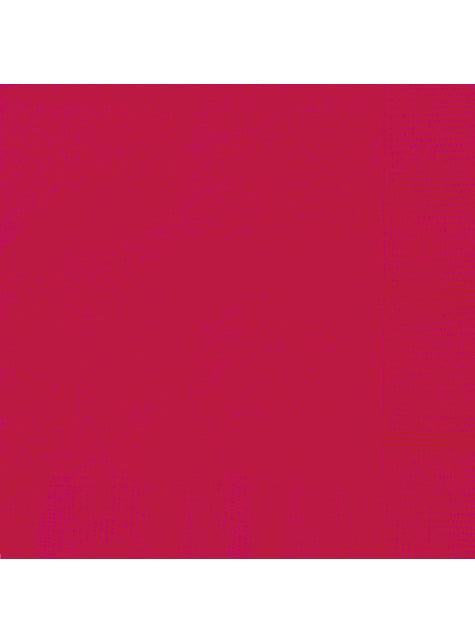 20 grandes Serviettes en papier rouges - Gamme couleur unie