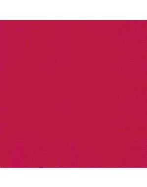 Sett med 20 store røde servietter - Grunnleggende Farger Kolleksjon