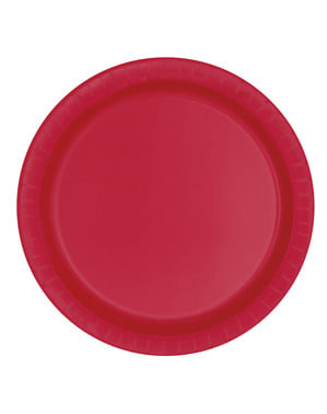 8 kpl isoa punaista lautasta - Perusvärilinja