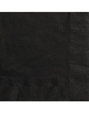 20 big black napking (33x33 cm) - Basic Colours Line