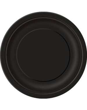 8 black plate (23 cm) - Basic Colours Line