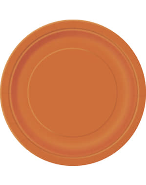 8 big orange plate (23 cm) - Basic Colours Line