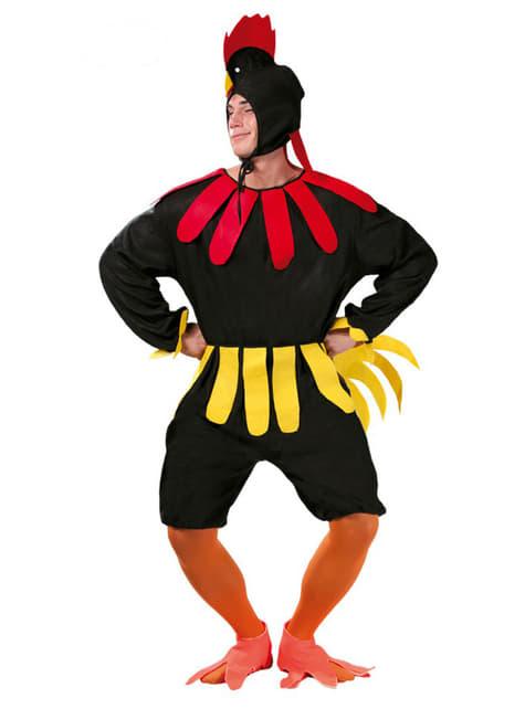 Hane sort kostume til voksne