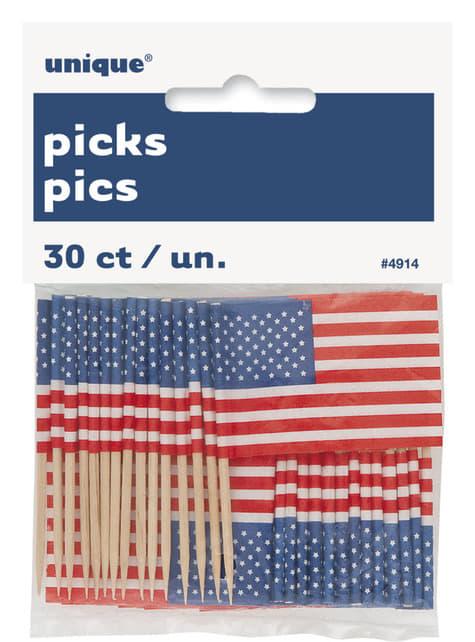 30 toppers decorativos - American Party - para tus fiestas