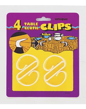 Zestaw 4 klipsów do obrusu