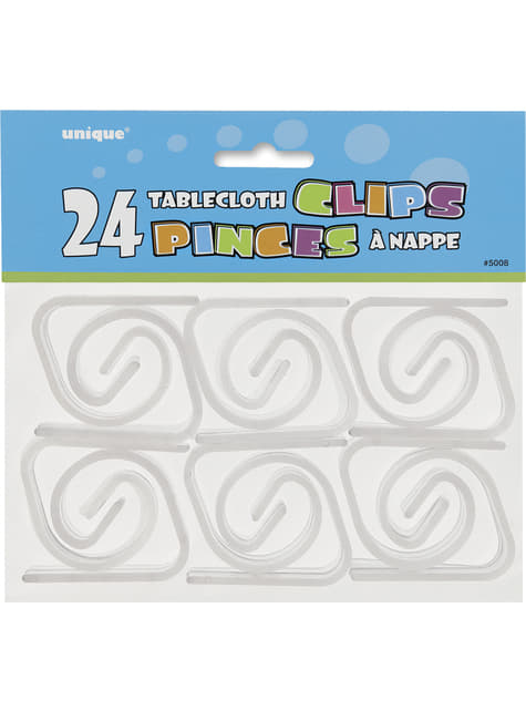 24 clips sujetamanteles - barato