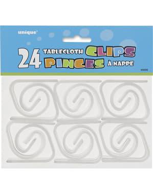 24 clips sujetamanteles
