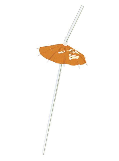 6 pajitas hawaianas - Luau Umbrella - barato