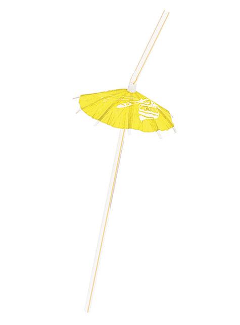 6 pajitas hawaianas - Luau Umbrella - comprar