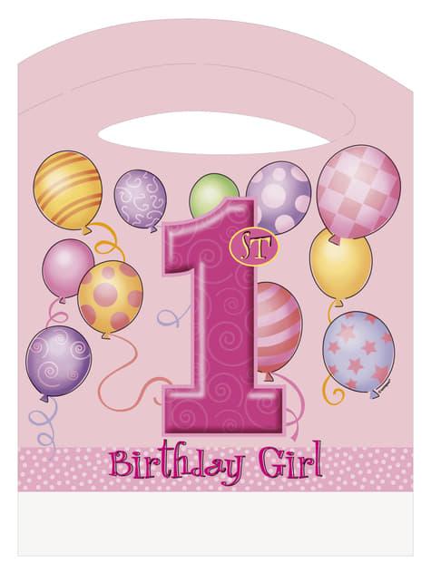 Set de 1º cumpleaños rosa - para tus fiestas