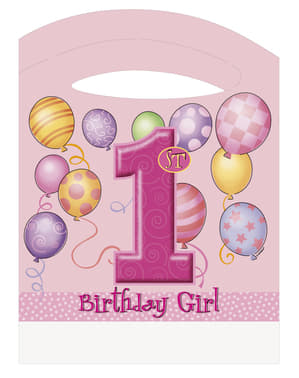 Lot 1º anniversaire rose