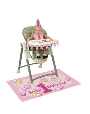 Eerste verjaardag set in het roze