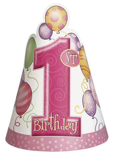 Set de 1º cumpleaños rosa - comprar