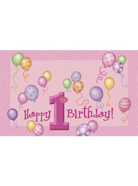 Set de 1º cumpleaños rosa - para niños y adultos
