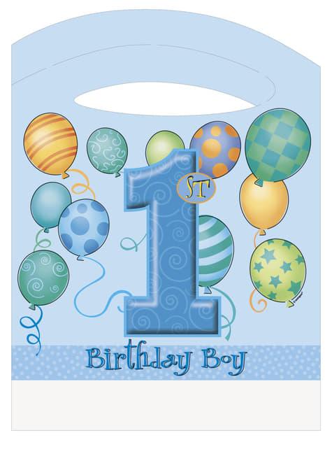 1st birthday set in blue