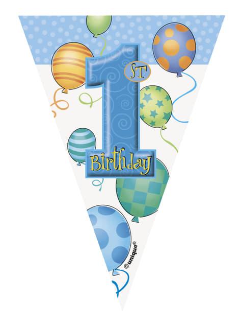 Set de 1º cumpleaños azul - barato