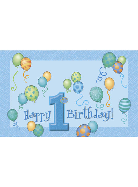 Set de 1º cumpleaños azul - para niños y adultos