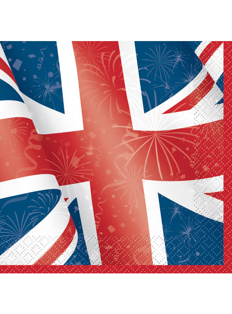 16 grandes Serviettes en papier - Best of British