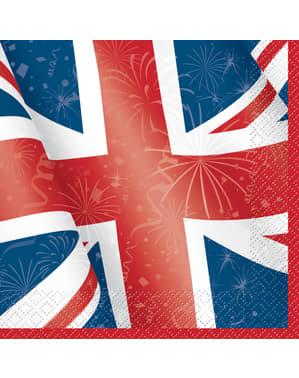 Set of 16 big napkings - Best of British