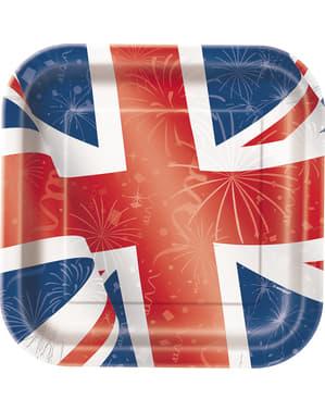 8 assiettes carrées - Best of British