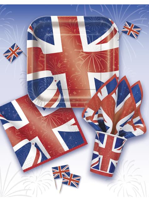 8 platos cuadrados (23 cm) - Best of British - para tus fiestas