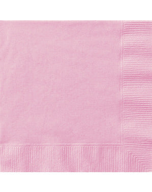 20 tovaglioli grandi rosa chiar (33x33 cm) - Linea Colori Basic