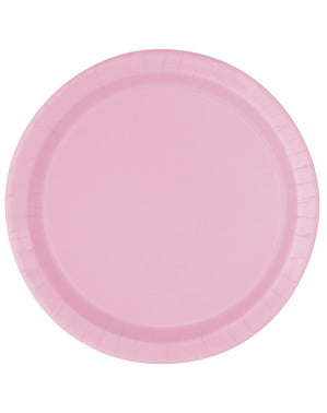 8 light pink plate (23 cm) - Basic Colours Line