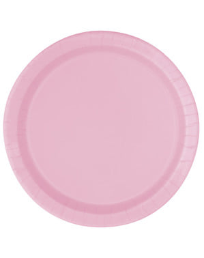 20 light pink dessert plate (18 cm) - Basic Line Colours