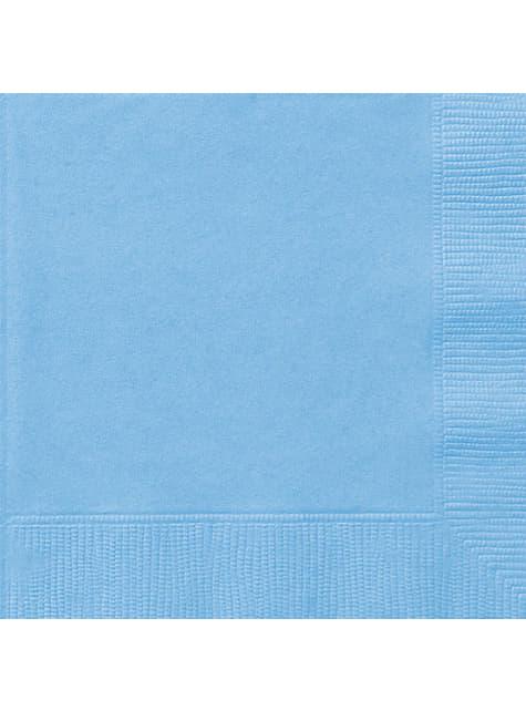 50 servilletas azul cielo (33x33 cm) - Línea Colores Básicos