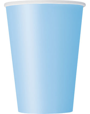 10 hemelsblauwe bekers - Basis Kleuren Lijn