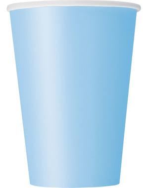 Zestaw 10 błękitnych kubków - Linia kolorów podstawowych