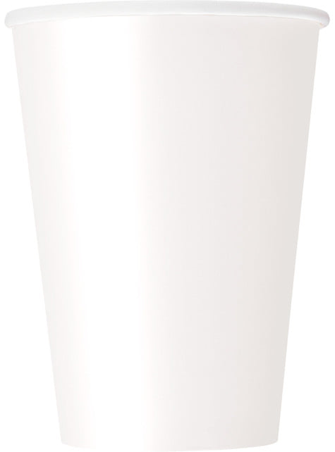 10 grands gobelets couleur blanc - Gamme couleur unie