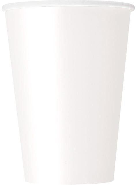 10 kpl isoa valkoista kuppia - Perusvärilinja