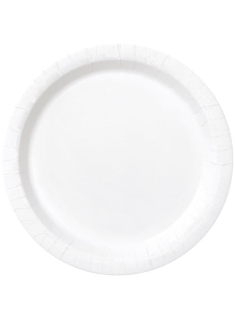 Set of 20 white dessert plates - Basic Line Colours