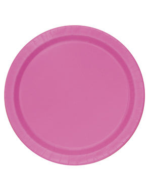 16 pink plate (23 cm) - Basic Colours Line
