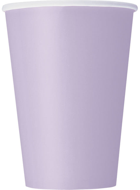 10 grands gobelets lilas - Gamme couleur unie