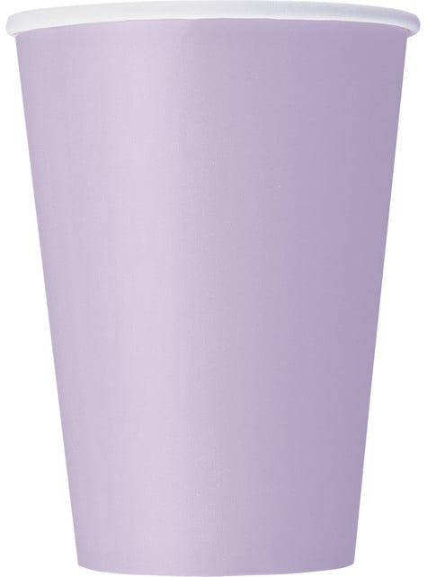 10 kpl isoa liilaa kuppia - Perusvärilinja