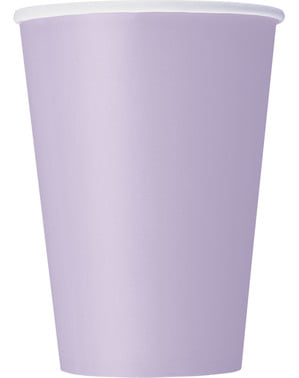 Комплект от 10 големи лилави чаши - Line Basic Colors