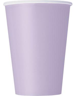 Zestaw 10 dużych fioletowych kubków - Linia kolorów podstawowych