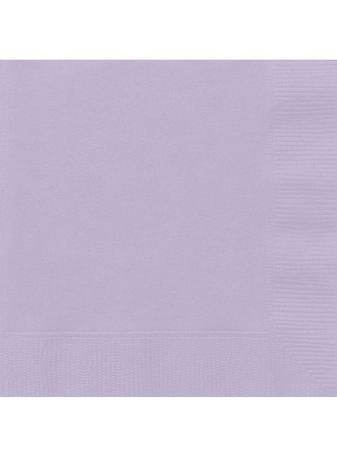 20 grandes Serviettes en papier lilas - Gamme couleur unie