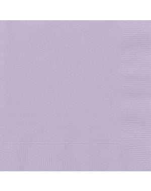 20 guardanapos grandes lilá (33x33 cm) - Linha Cores Básicas