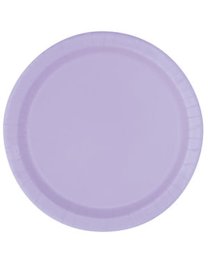 8 lila dessertborde (18 cm) - Basis Kleuren Lijn