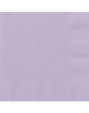 Zestaw 50 dużych jasnofioletowych serwetek - Linia kolorów podstawowych