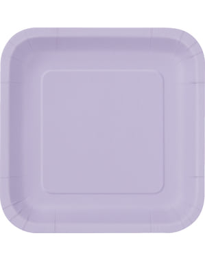 Комплект от 14 лилави квадратни плочи - Основни цветове линия