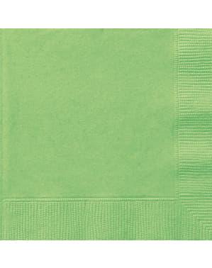 20 kpl limenvihreää servettiä - Perusvärilinja