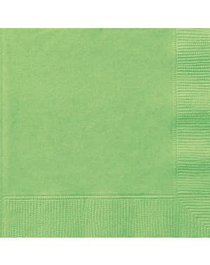 20 grote limoengroene servette (33x33 cm) - Basis Kleuren Lijn