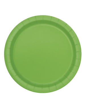 8 lime green dessert plate (18 cm) - Basic Colours Line
